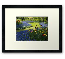 Flower Garden Composition Framed Print