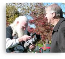 Filming the Guru Canvas Print