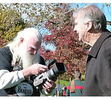 Filming the Guru Photographic Print