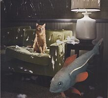 Fish in the Cat's Lounge by Kristy-Lee