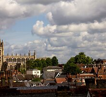 St Mary's across the roof tops. by Darren Burroughs