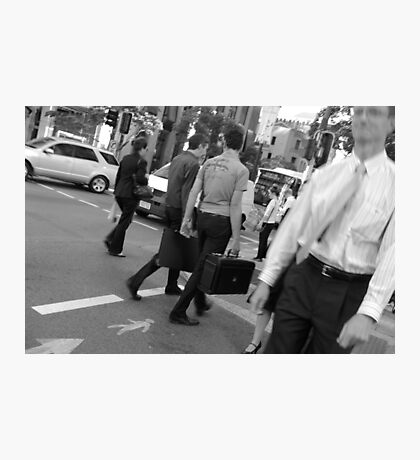 Busy street crossing Photographic Print