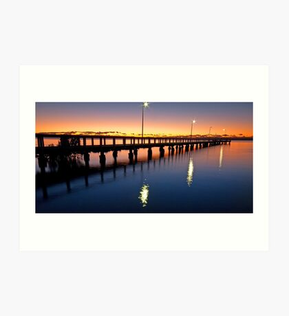 First Light on Wello - Wellington Point Qld Art Print