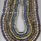 African glass bead necklace  by Emmanuel  Ronny