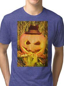 scary pumpkin hat Tri-blend T-Shirt