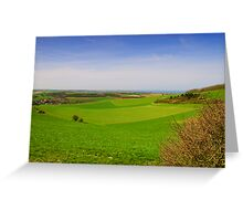 French Landscape at the Côte Opale Greeting Card