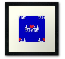 online dating Framed Print