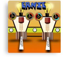 Ernie, Premium Bond picker Robot version. Canvas Print