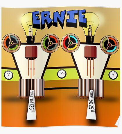 Ernie, Premium Bond picker Robot version. Poster