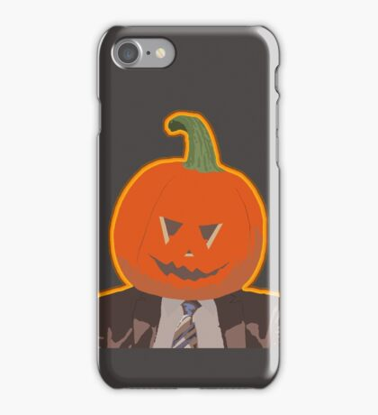 Jack-O-Lantern Dwight iPhone Case/Skin