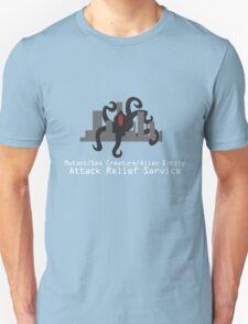 Mutant/Sea Creature/Alien Entity Attack Relief Service Dark Tee T-Shirt