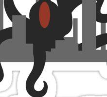 Mutant/Sea Creature/Alien Entity Attack Relief Service Dark Tee Sticker
