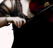 The Fiddle Player in Violin Concerto A minor Grunge  by ArtbyDigman