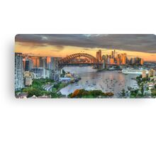 Morning Light - Sydney Harbour Sydney Australia -The HDR Experience Canvas Print