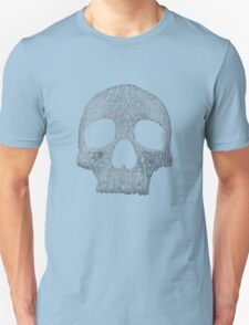 """Hamlet """"to be or not to be"""" typography skull Unisex T-Shirt"""