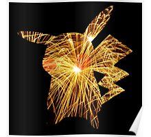 Pikachu | Fireworks Poster