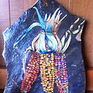 Indian Corn Painted On Rock by freespirit1972
