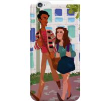 walkin to class iPhone Case/Skin