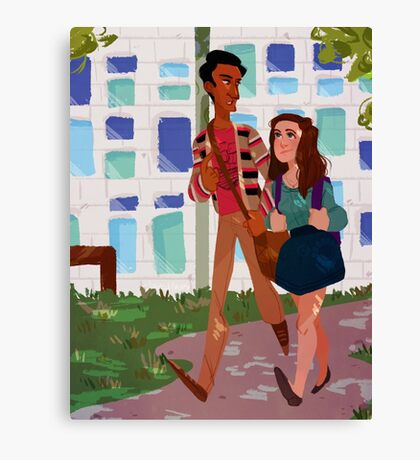 walkin to class Canvas Print