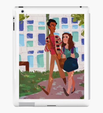 walkin to class iPad Case/Skin