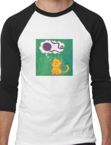 Daydreaming Kitten: Yarn!  Men's Baseball ¾ T-Shirt
