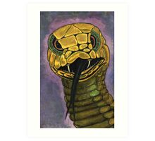 91 - SNAKE - DAVE EDWARDS - WATERCOLOUR - 2002 Art Print