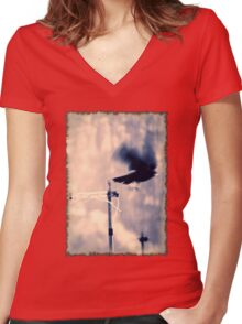 Taking off Women's Fitted V-Neck T-Shirt