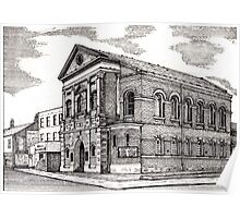164 - CENTRAL METHODIST CHURCH, BLYTH - DAVE EDWARDS - INK - 1988 Poster