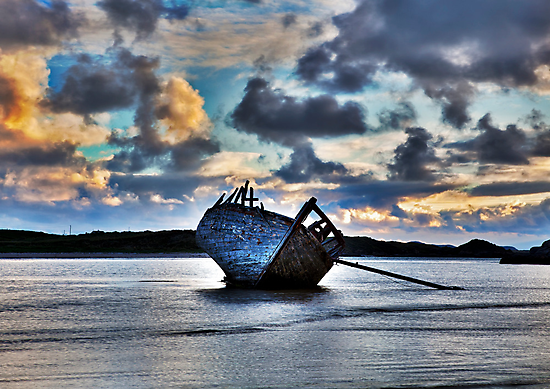 Donegal Shipwreck (Eddies boat) by Stephen Lawlor