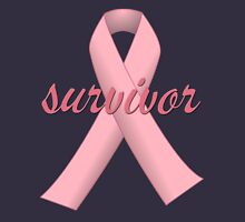 Survivor with Pink Ribbon Women's Fitted V-Neck T-Shirt