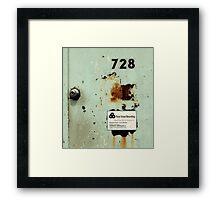 Door To Dave Matthews Band Recording Studio Framed Print