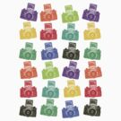 Colorful Cameras by Artberry
