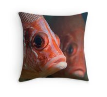 Sabre Squirrelfish twins Throw Pillow