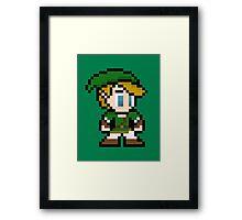 8-Bit Link Framed Print