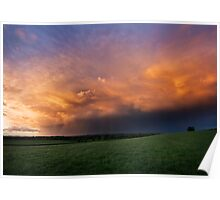 Spring Storm Clouds Poster
