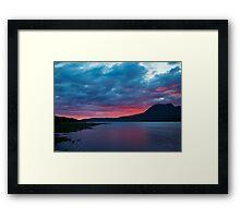 Torridon Sunset  Framed Print