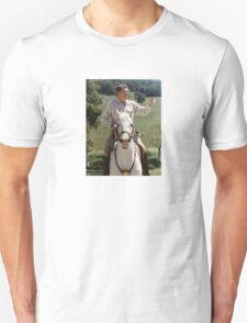 Ronald Reagan On Horseback Unisex T-Shirt