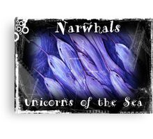 Narwhals Unicorns of the Sea Canvas Print