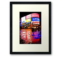 Rain Colors of London Piccadilly Circus Framed Print
