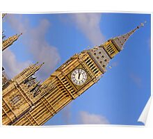 London Architecture  Big Ben Perspective Poster