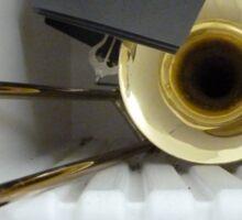 Trombone in the Shelf Sticker