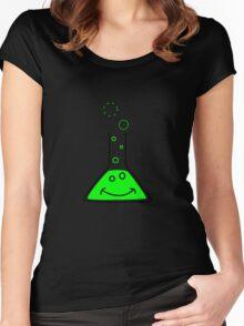 Bubbling beaker Women's Fitted Scoop T-Shirt