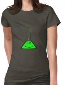 Bubbling beaker Womens Fitted T-Shirt