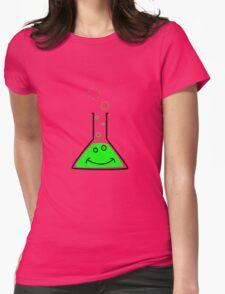 Bubbling beaker Womens Fitted T-Shirt