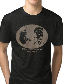 Rowsdower:  Zap And Troy the Legendary Journeys Tee (sepia version) Tri-blend T-Shirt
