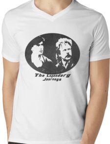 Rowsdower:  Zap And Troy the Legendary Journeys Tee (b&w version) Mens V-Neck T-Shirt