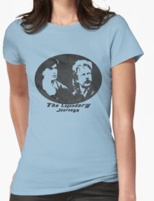 Rowsdower:  Zap And Troy the Legendary Journeys Tee (b&w version) Womens Fitted T-Shirt