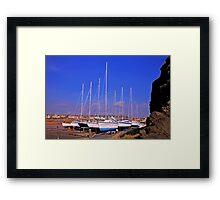 Hard Standing at Elie Harbour Framed Print