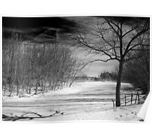 Wintery day Poster