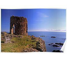 Lady`s Tower at Elie Poster